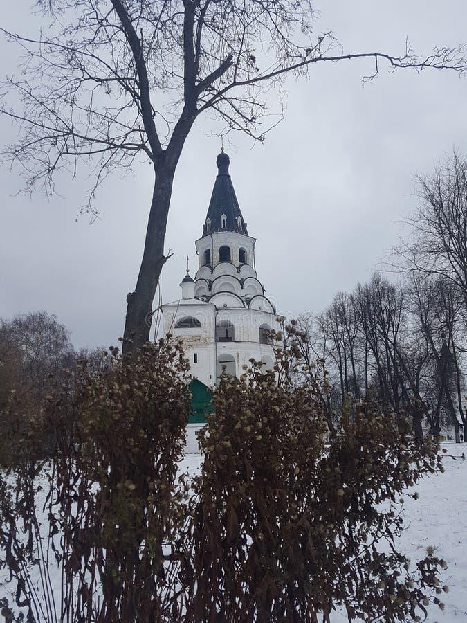 Kreml och den tidigare uppehållet av Ivan det ruskigt i byn av Alexander Alexandrov Vladimir region, Ryssland royaltyfri fotografi