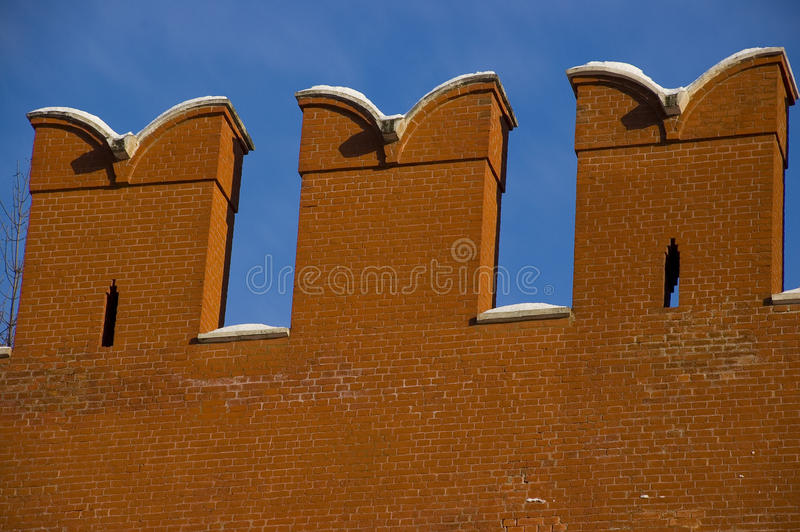 kremlin ściana Moscow fotografia stock
