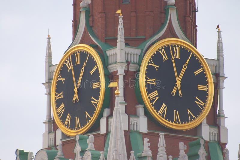 Download Kremlin clock stock photo. Image of russian, brick, spasskaya - 518648