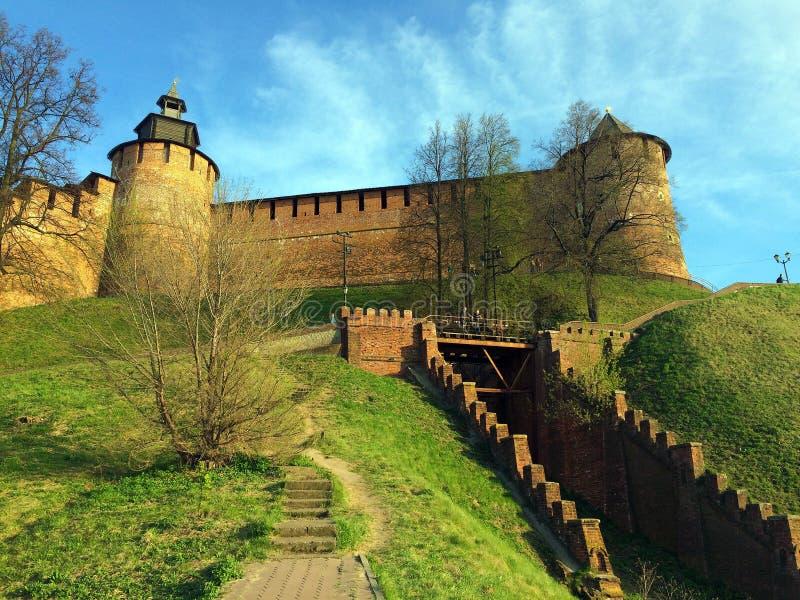 Kremlin dans Nizhny Novgorod image libre de droits