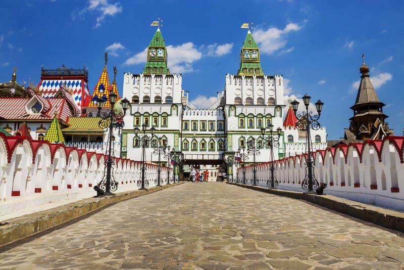 Kremlin de Izmailovo da construção, Moscou, Rússia imagens de stock royalty free