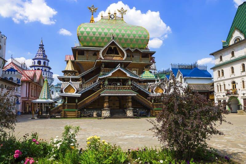 Kremlin de Izmailovo da construção, Moscou, Rússia imagem de stock