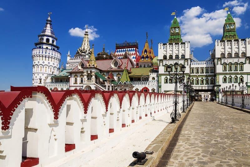 Kremlin de Izmailovo da construção, Moscou, Rússia fotografia de stock