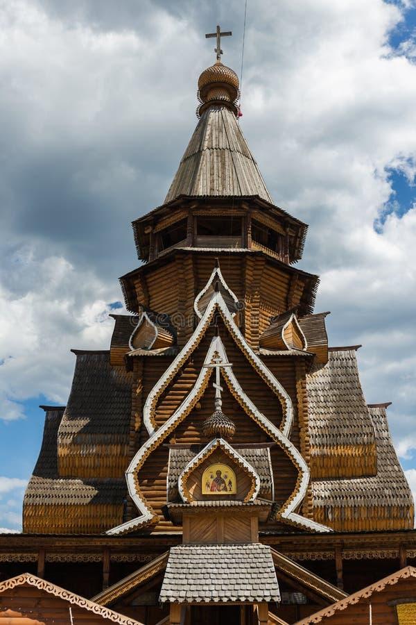 Kremlin de Izmaylovsky em Moscou Arquitetura tradicional do russo imagem de stock
