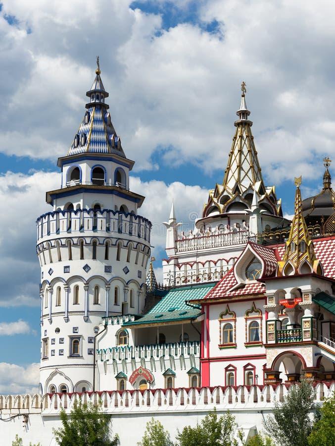 Kremlin de Izmaylovsky em Moscou Arquitetura tradicional do russo imagem de stock royalty free