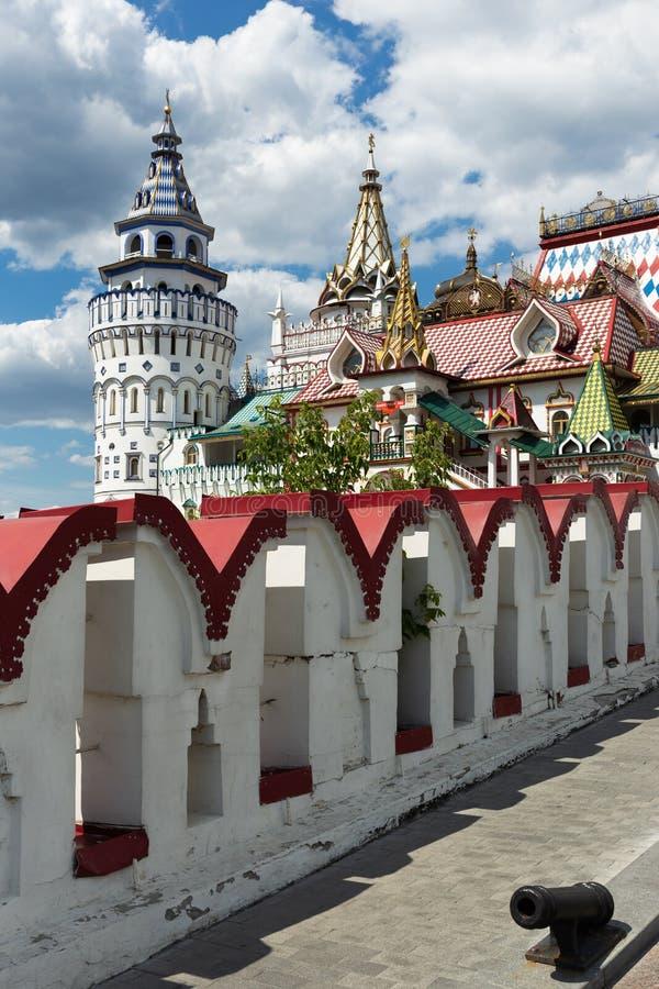 Kremlin de Izmaylovsky em Moscou Arquitetura tradicional do russo fotos de stock