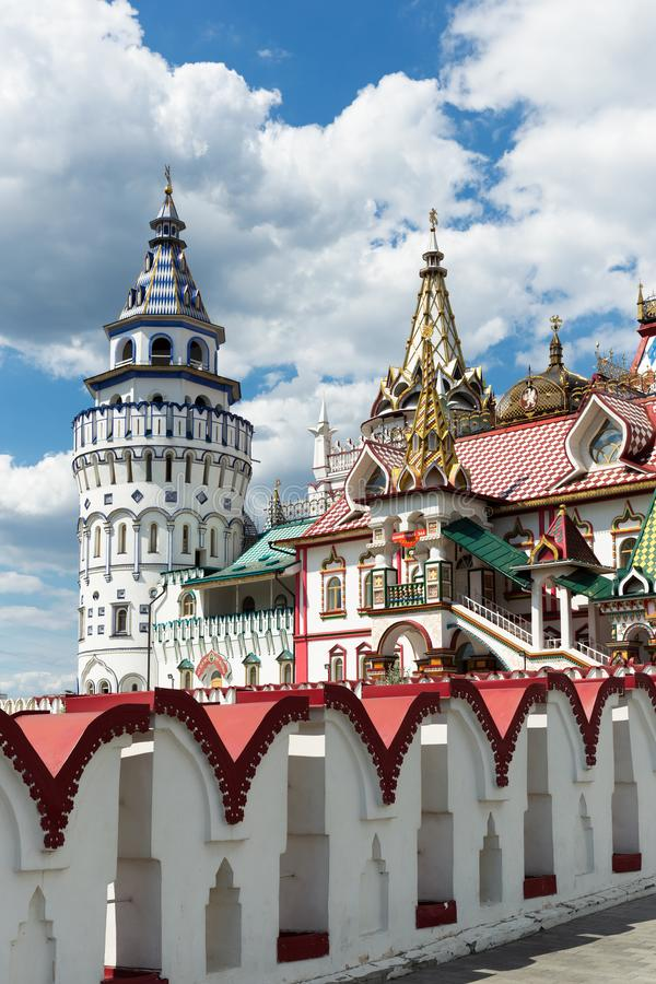 Kremlin de Izmaylovsky em Moscou Arquitetura tradicional do russo fotos de stock royalty free