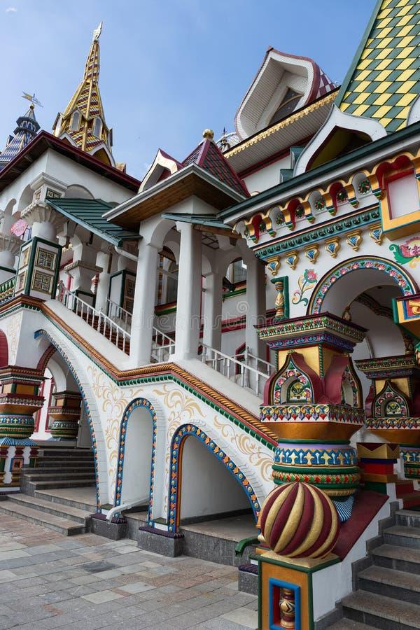 Kremlin de Izmaylovsky em Moscou Arquitetura tradicional do russo imagens de stock