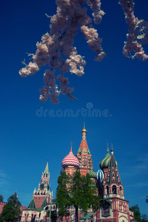 Kremlin de Moscou au printemps photo stock