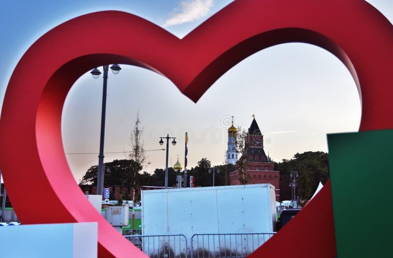Kremlin de Moscou e outros marcos da cidade de Moscou na noite imagens de stock royalty free