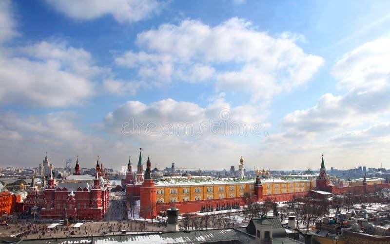 Kremlin de Moscou no dia ensolarado fotografia de stock