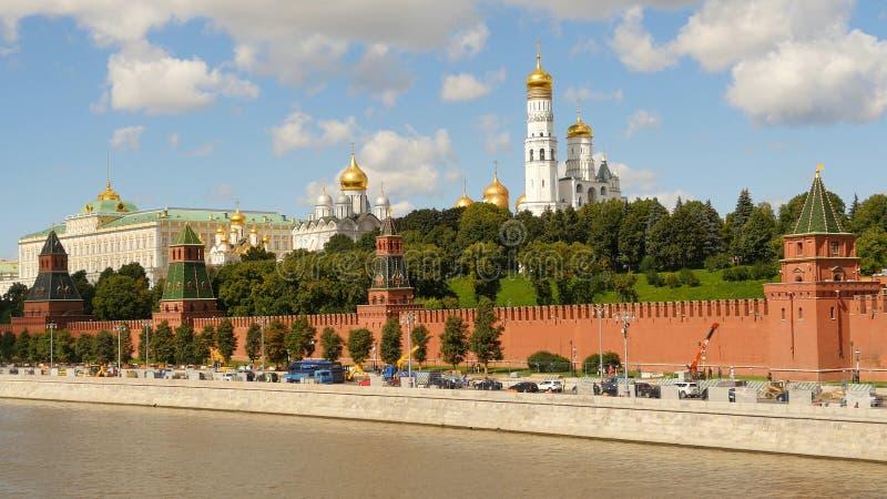 Kremlin de Moscou no verão 2016 fotos de stock royalty free