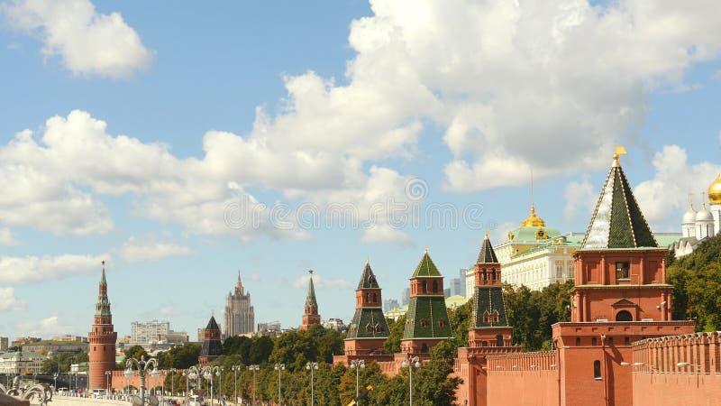 Kremlin de Moscou no verão 2016 imagem de stock royalty free