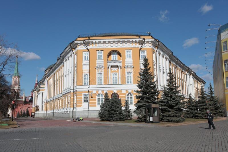 Kremlin de Moscou, o palácio do Senado fotografia de stock