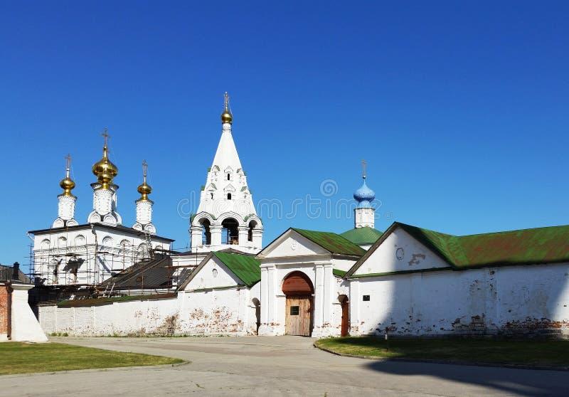 Kremlin de Ryazan, igreja do esmagamento Ryazan, uma cidade em uma soma fotografia de stock
