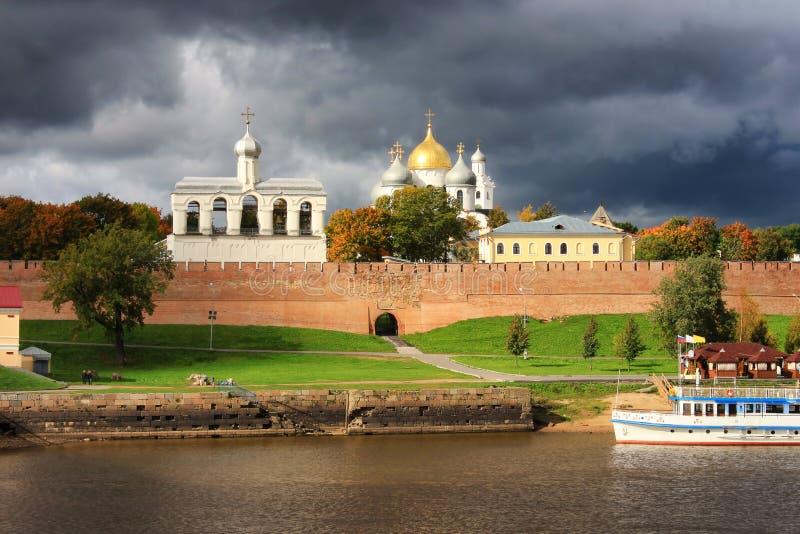 Kremlin de Veliky Novgorod foto de stock