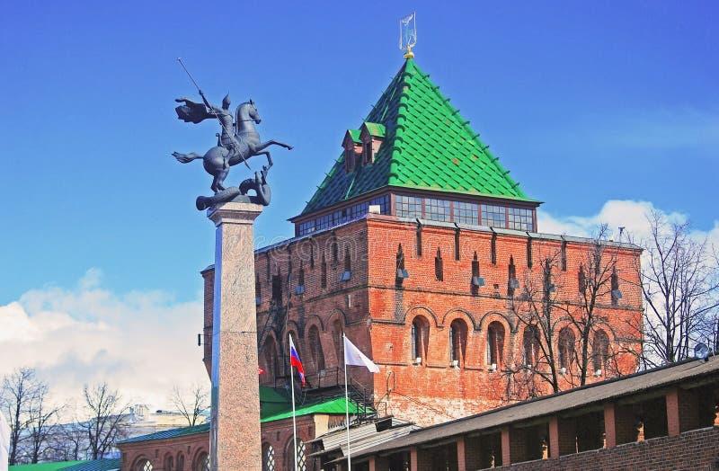 Kremlin em Nizhny Novgorod, Rússia imagens de stock