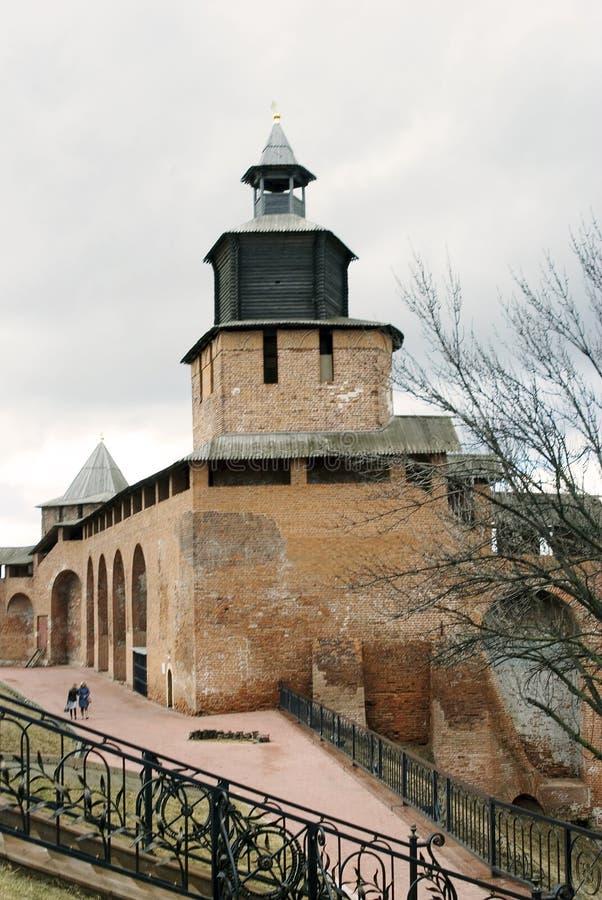 Kremlin em Nizhny Novgorod, Rússia imagem de stock royalty free