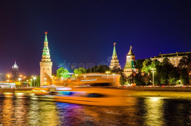 Kremlin Embankment imagem de stock royalty free