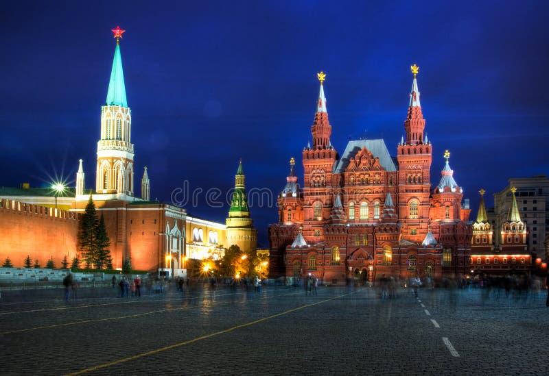 Kremlin et grand dos rouge photo libre de droits
