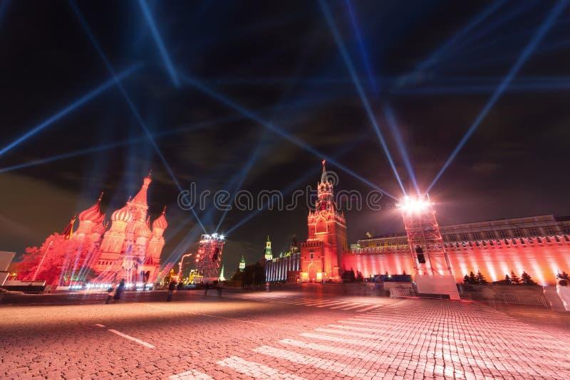 Kremlin i St. basile Katedralni na plac czerwony w Moskwa obraz royalty free