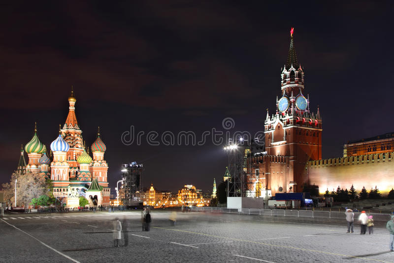Kremlin i St. basilu katedra na plac czerwony fotografia royalty free