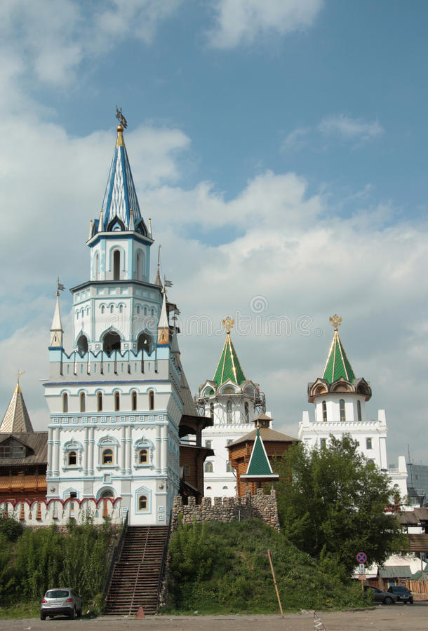 Kremlin in Izmaylovo, Moskau-Grenzstein lizenzfreie stockfotos