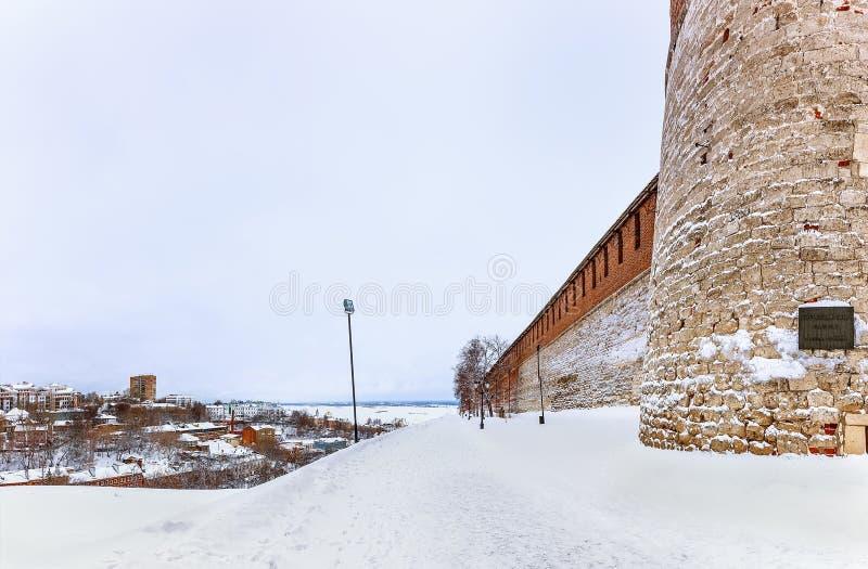 Kremlin jest fortecą w historycznym centrum miasta Nizhny Novgorod zdjęcie royalty free