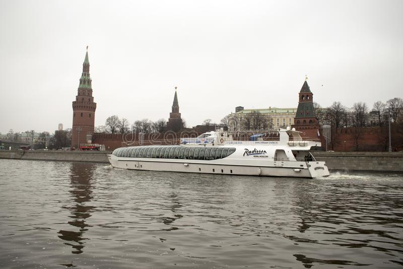 Kremlin jest warownym kompleksem w centre Moskwa zdjęcie stock
