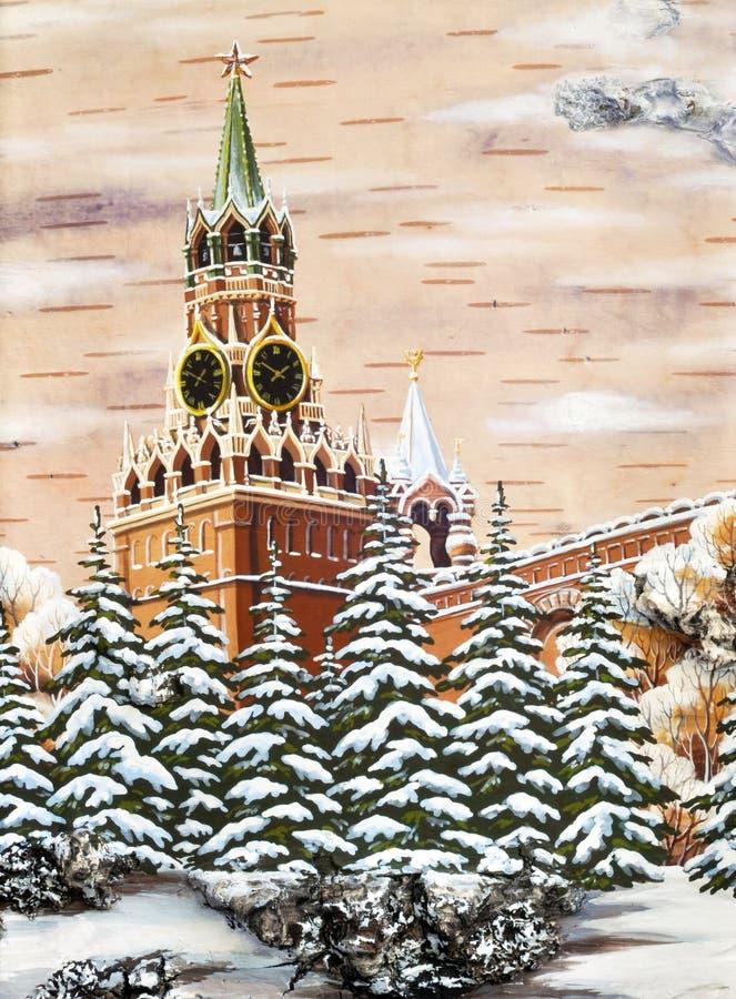 kremlin moscow Россия иллюстрация вектора