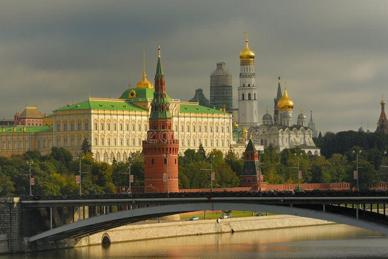 The Kremlin in Moscow stock images