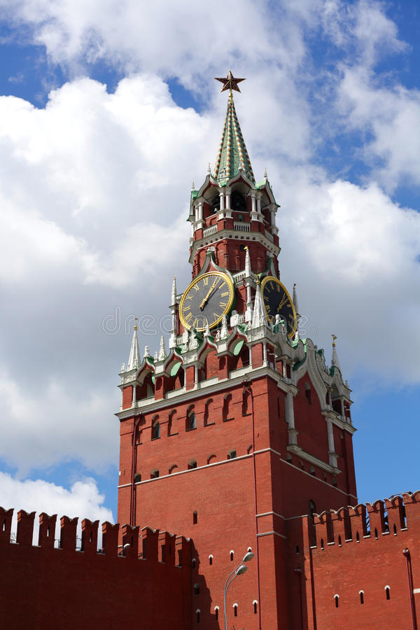 Kremlin, Moscow. The main tower of the Kremlin, Moscow royalty free stock image