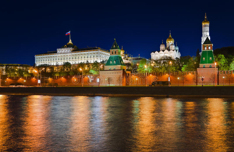 Kremlin In Moscow At Night Stock Image