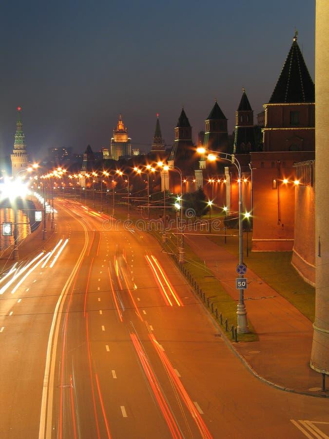 kremlin moscow väggar royaltyfri bild