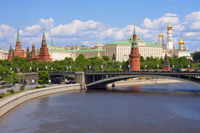 Kremlin, Moskau, Russland stockbilder