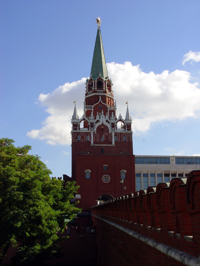 Kremlin in Moskau, Russland stockfotos