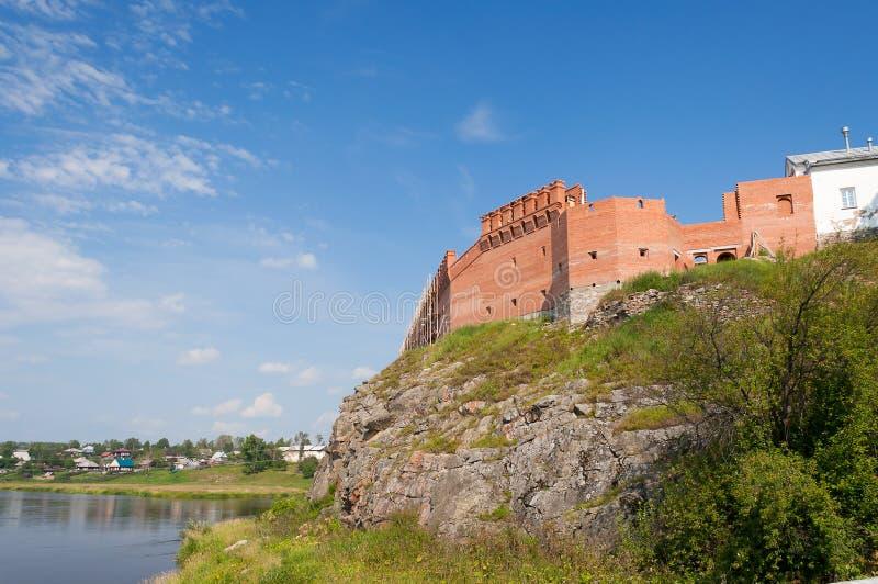 Kremlin na bankach Rzeczny Tura zdjęcia stock