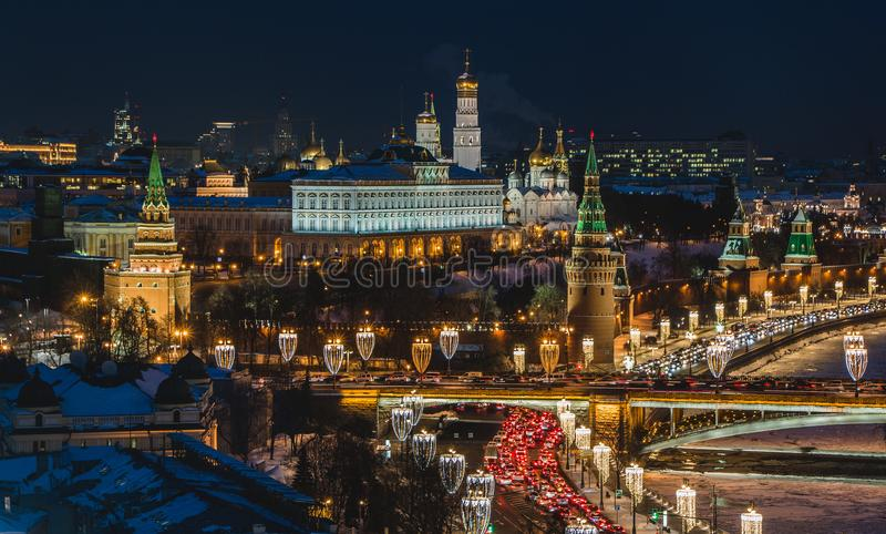 Kremlin Nightscape III. A picture of the Kremlin at night stock photos