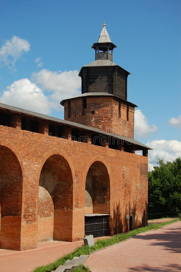 kremlin Nizhny Novgorod torn royaltyfri bild