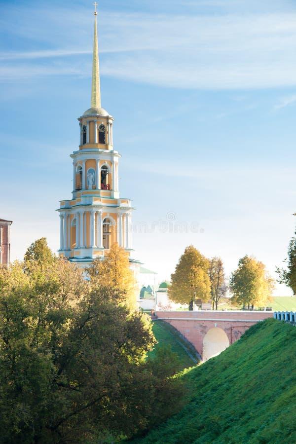 Kremlin no outono - conjunto de Ryazan de igreja do ortodox fotos de stock royalty free
