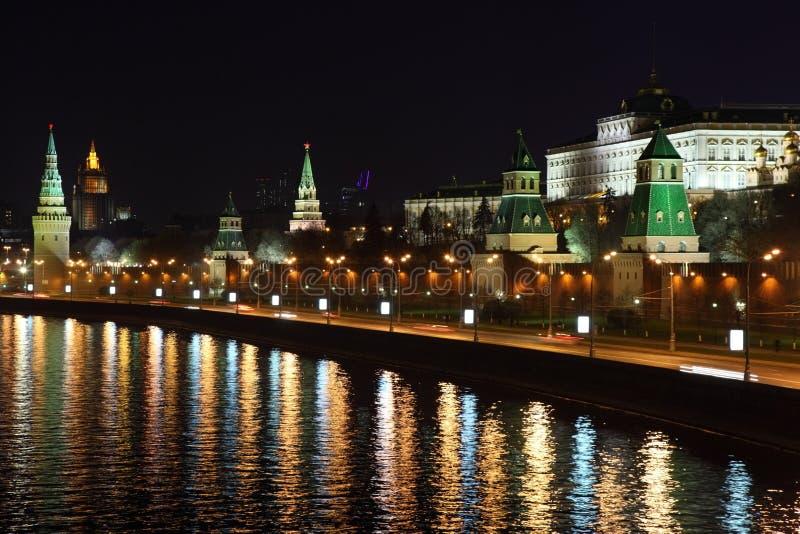 kremlin noc quay zdjęcia royalty free