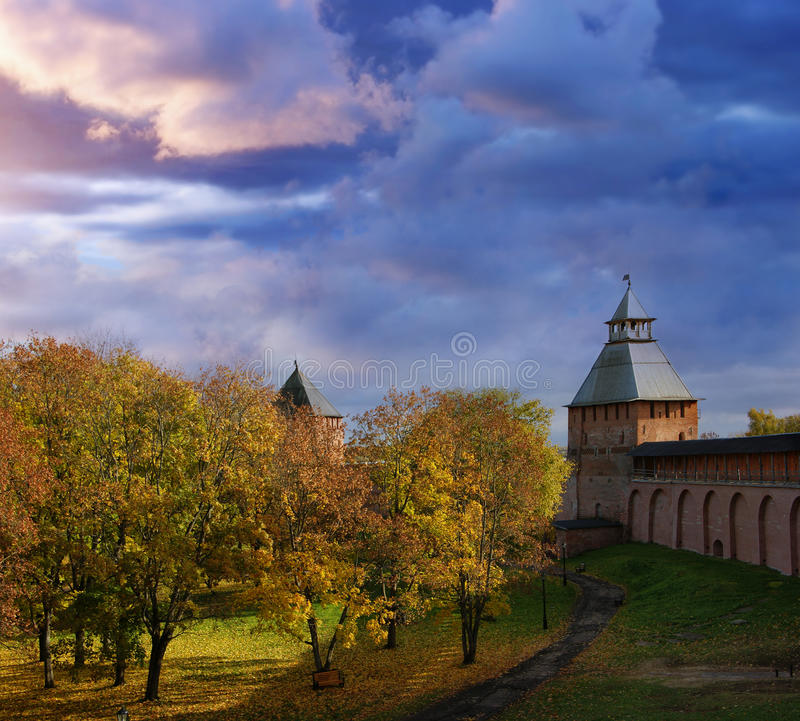 Kremlin in Novgorod royalty free stock photo
