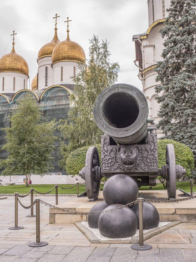 kremlin O canhão do czar, molde no bronze em 1586 por A Chokhov foto de stock royalty free