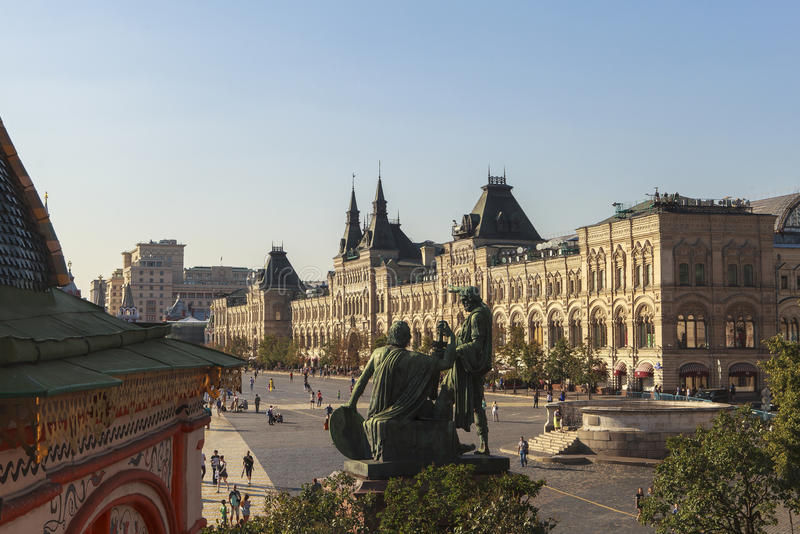 Kremlin and Red Square in Moscow stock images