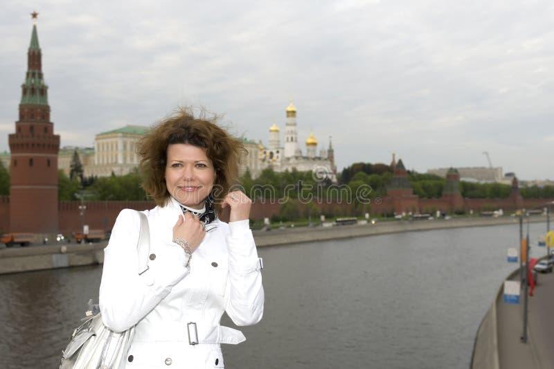 kremlin rosjanina kobieta fotografia royalty free