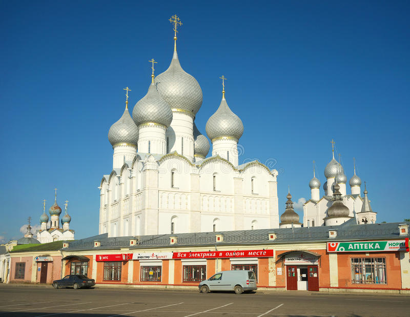 The Kremlin in Rostov the Great. Gold ring of Russia. stock images