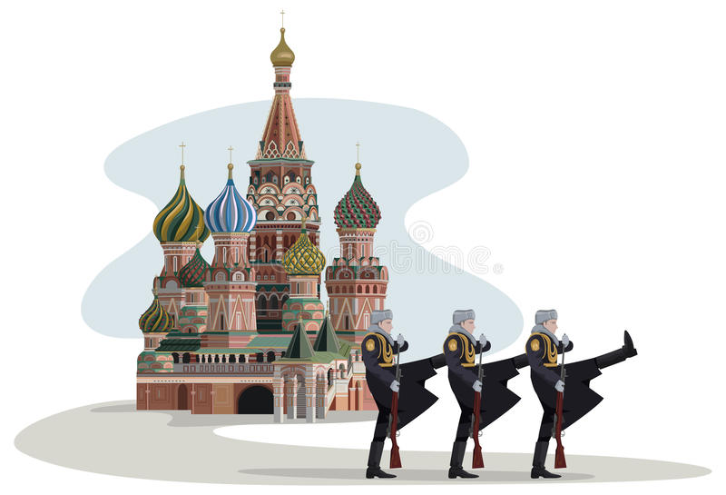Kremlin And Russian Soldiers Royalty Free Stock Photos