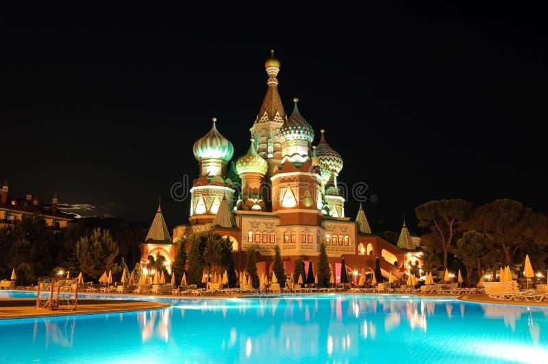 Kremlin style hotel, Antalya, Turkey royalty free stock image