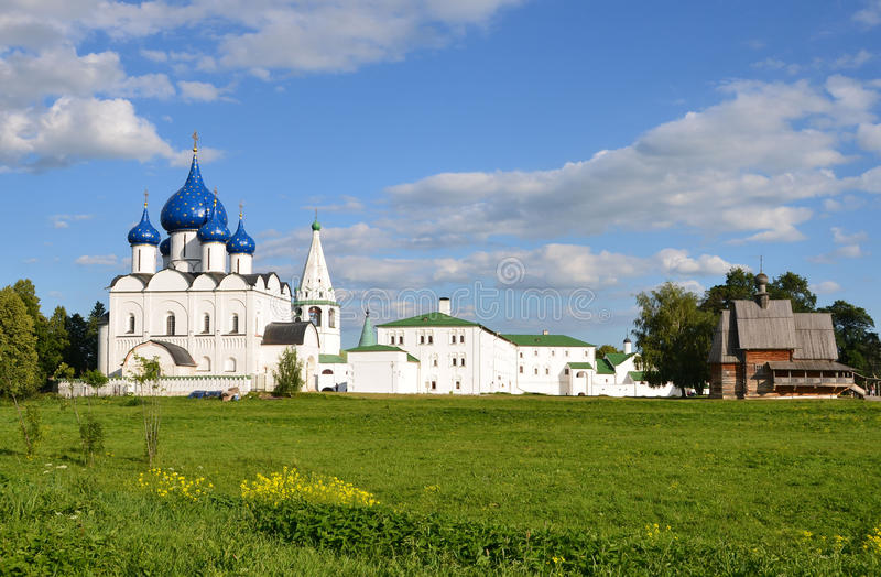 The Kremlin in Suzdal in summer. The Golden ring of Russia. The Kremlin in Suzdal. The Golden ring of Russia royalty free stock image