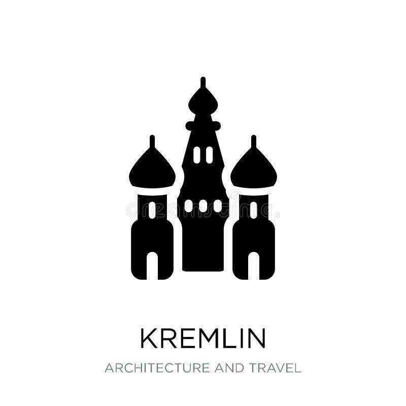 kremlin symbol i moderiktig designstil kremlin symbol som isoleras på vit bakgrund enkelt och modernt plant symbol för kremlin ve vektor illustrationer